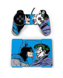 Batman vs Joker - Blue Background PlayStation Classic Bundle Skin