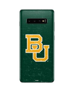 Baylor Bears Distressed Galaxy S10 Plus Skin