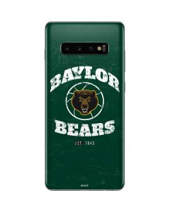 Baylor Faded Basketball Galaxy S10 Plus Skin