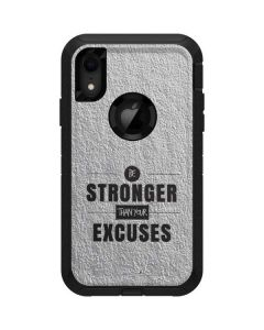 Be Stronger Than Your Excuses Otterbox Defender iPhone Skin
