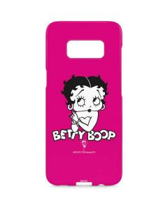 Betty Boop Pink Background Galaxy S8 Plus Lite Case