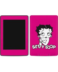 Betty Boop Pink Background Amazon Kindle Skin