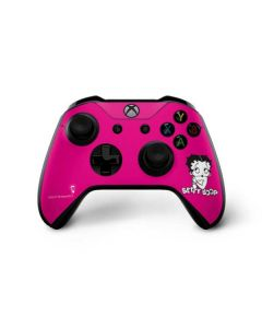 Betty Boop Pink Background Xbox One X Controller Skin