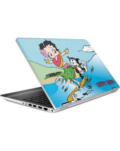 Betty Boop Surfing HP Pavilion Skin