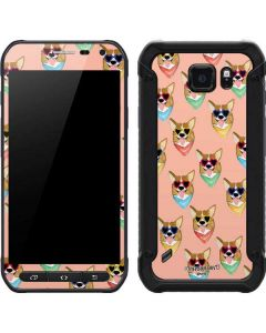 Corgi Love Galaxy S6 Active Skin