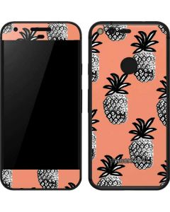 Gray Scale Pineapple Google Pixel Skin