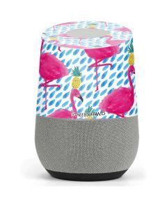 Party Flamingos Google Home Skin