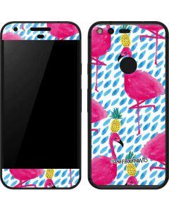 Party Flamingos Google Pixel Skin