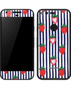Strawberries and Stripes Google Pixel Skin