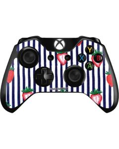 Strawberries and Stripes Xbox One Controller Skin