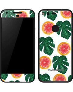 Tropical Leaves and Citrus Google Pixel Skin