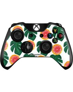 Tropical Leaves and Citrus Xbox One Controller Skin