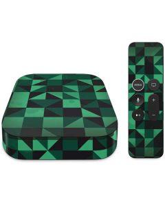 Black & Green Apple TV Skin