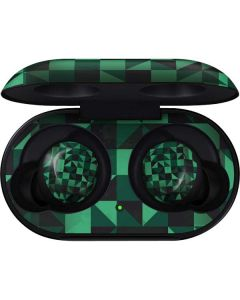 Black & Green Galaxy Buds Skin