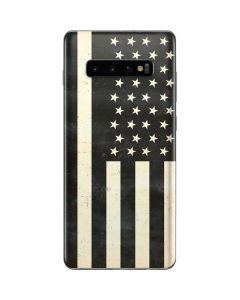 Black & White USA Flag Galaxy S10 Plus Skin