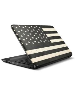 Black & White USA Flag HP Notebook Skin