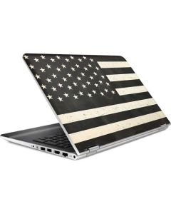 Black & White USA Flag HP Pavilion Skin