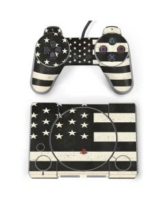 Black & White USA Flag PlayStation Classic Bundle Skin