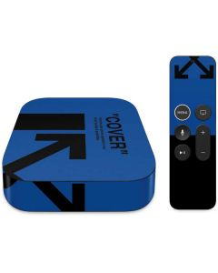 Black and Blue Arrows Apple TV Skin