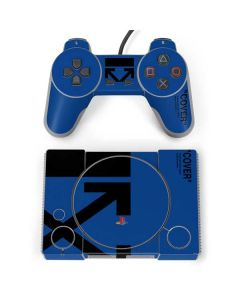 Black and Blue Arrows PlayStation Classic Bundle Skin