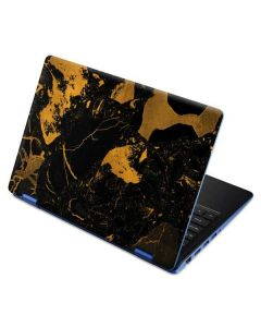 Black and Gold Scattered Marble Aspire R11 11.6in Skin