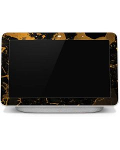 Black and Gold Scattered Marble Google Home Hub Skin