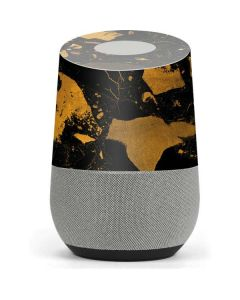 Black and Gold Scattered Marble Google Home Skin