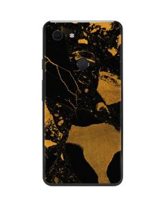 Black and Gold Scattered Marble Google Pixel 3 XL Skin