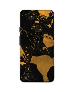 Black and Gold Scattered Marble Google Pixel 3a Skin