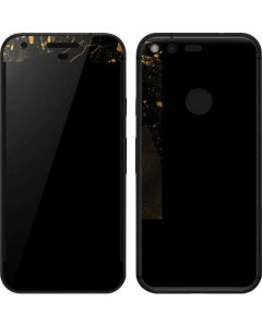 Black and Gold Scattered Marble Google Pixel Skin