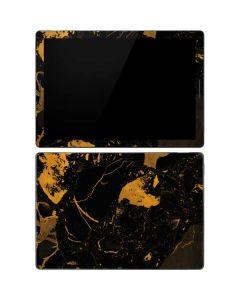 Black and Gold Scattered Marble Google Pixel Slate Skin