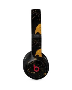 Black and Gold Scattered Marble Studio Wireless Skin