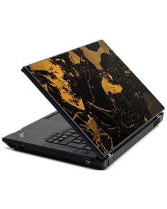 Black and Gold Scattered Marble Lenovo T420 Skin