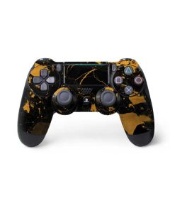 Black and Gold Scattered Marble PS4 Pro/Slim Controller Skin