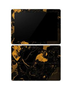 Black and Gold Scattered Marble Surface Go Skin
