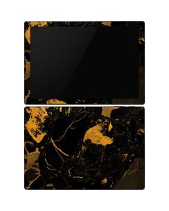 Black and Gold Scattered Marble Surface Pro 6 Skin