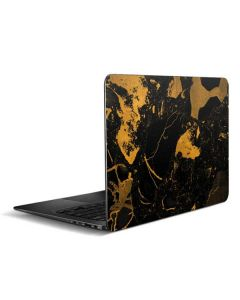 Black and Gold Scattered Marble Zenbook UX305FA 13.3in Skin