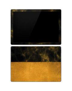Black and Gold Split Marble Google Pixel Slate Skin