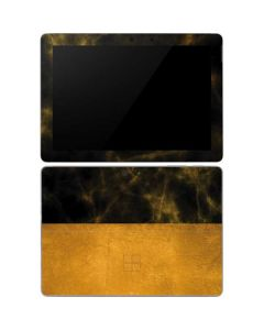 Black and Gold Split Marble Surface Go Skin