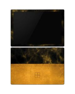 Black and Gold Split Marble Surface Pro 6 Skin