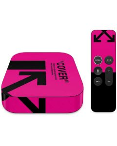 Black and Pink Arrows Apple TV Skin
