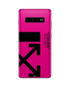 Black and Pink Arrows Galaxy S10 Plus Skin