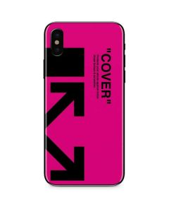 Black and Pink Arrows iPhone X Skin