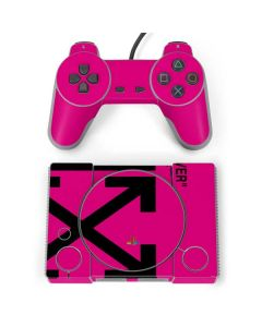 Black and Pink Arrows PlayStation Classic Bundle Skin