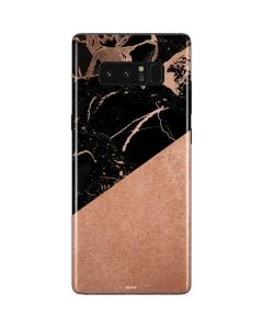 Black and Rose Gold Marble Split Galaxy Note 8 Skin