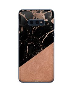 Black and Rose Gold Marble Split Galaxy S10e Skin