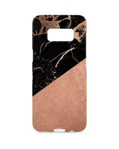 Black and Rose Gold Marble Split Galaxy S8 Plus Lite Case