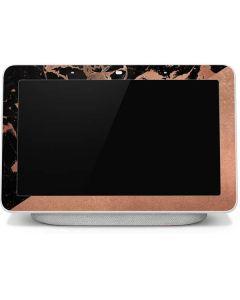 Black and Rose Gold Marble Split Google Home Hub Skin