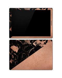 Black and Rose Gold Marble Split Google Pixel Slate Skin