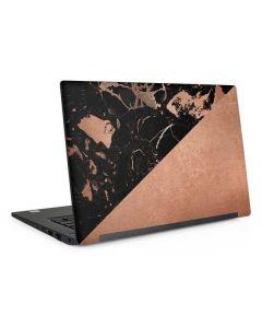 Black and Rose Gold Marble Split Dell Latitude Skin